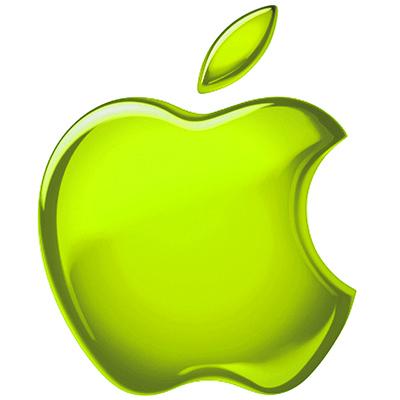 Apple Logo grün