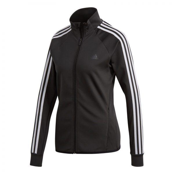 adidas Sweatjacke Streifen atmungsaktiv für Damen Schwarz Gr. M BK7680